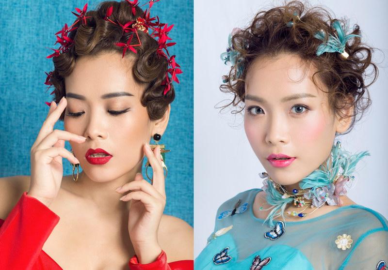 广州白云区化妆学员化妆造型作品-广州伊丽莎白培训学校